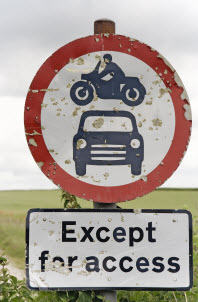 image of road sign