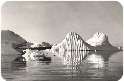 Photograph of Icebergs, Greenland Sea by Frank Illingworth.