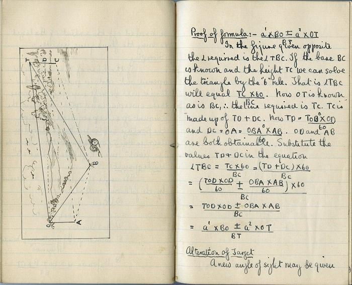Robbins' artillery notebook (1916)