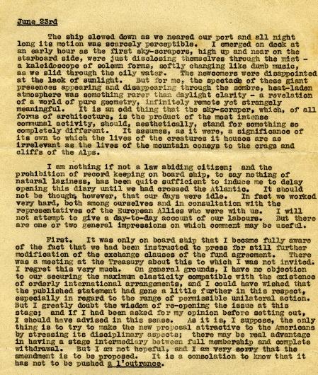 Robbins' diary extract (1944)