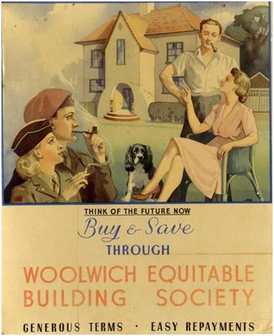 Woolwich advert, 1945