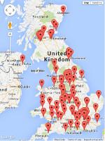 Hub contributors map