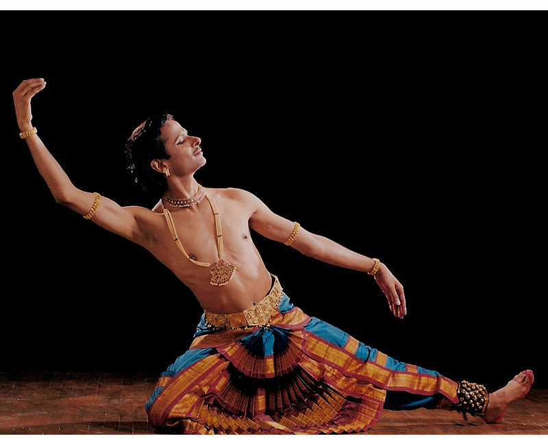 Photo of Bharatanatyam male dancer.