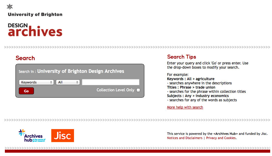 screenshot of brighton micro site