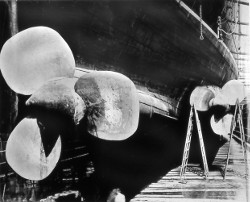 Image of a propeller from the Lusitania