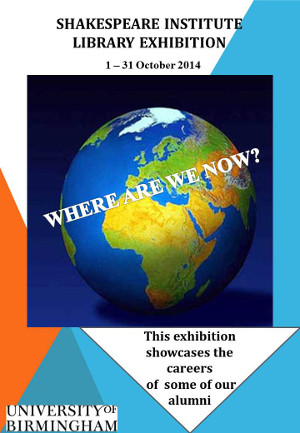 Image of poster for 2014 exhibition: Where are we now?
