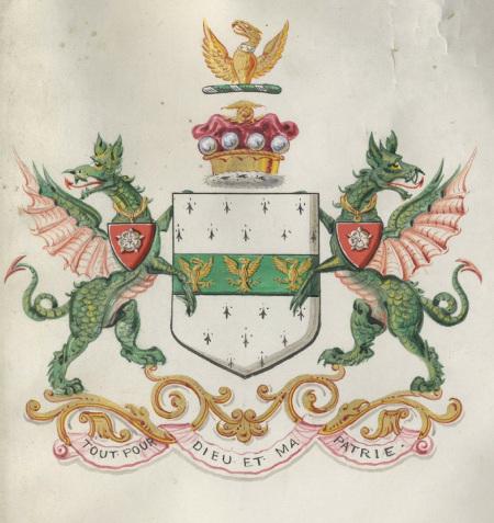 Image of Winn Arms, Rowland Winn 1st Baron, 1885
