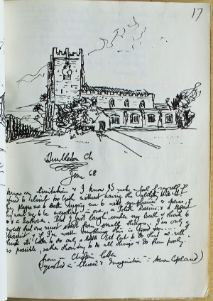 Dunbleton Church sketch, 1968