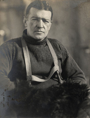 Photo of Sir Ernest Shackleton by James Frances (Frank) Hurley (SPRI ref: P66_19_001A)