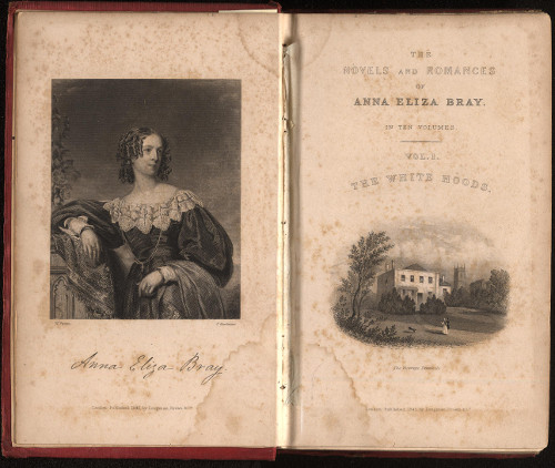Frontispiece of Anna Eliza Bray's book The White Hoods