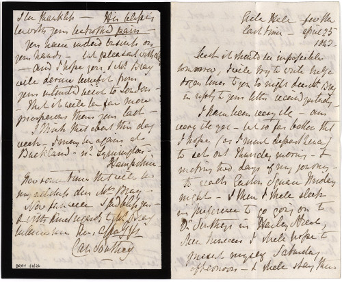 Letter to Anna Eliza Bray from Caroline Southey written after Robert Southey's death