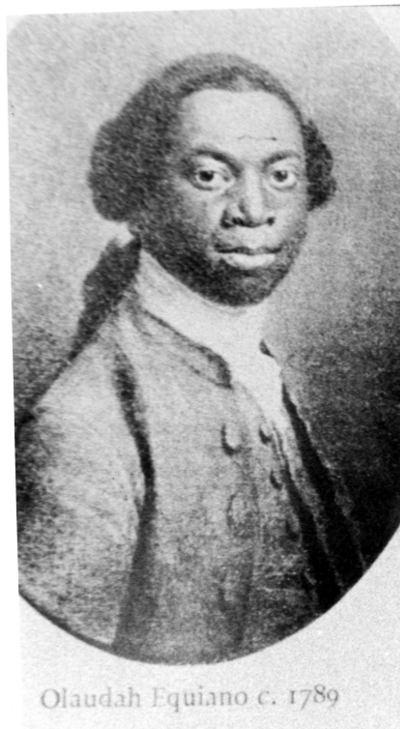 Photograph of a portrait of Olaudah Equiano.