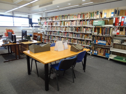 Photograph of the new reading room