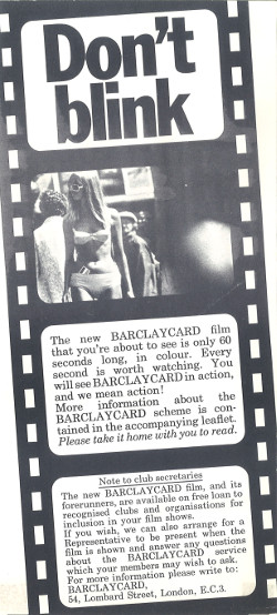 Image of Flyer for Travelling Light, 1968