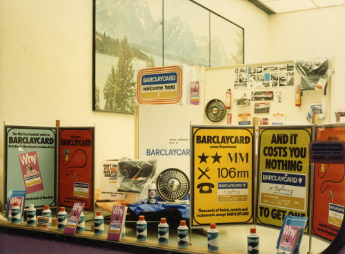 Photo of early advertising at a garage