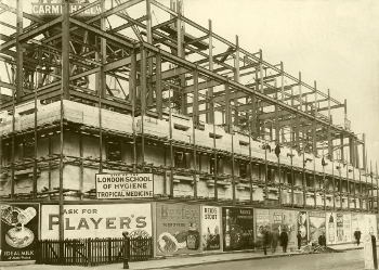 Photograph of the London School of Hygiene & Tropical Medicine under construction, c.1927.
