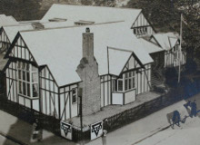 Shakespeare Hut aerial view. Image courtesy of the YMCA archive. © Cadbury Research Library, University of Birmingham