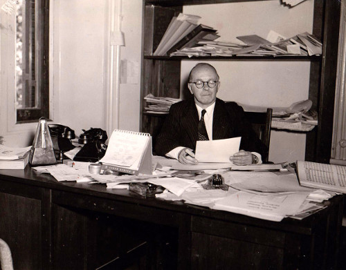 Eric Chisholm in his study