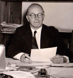 Eric Chisholm in his study in South Africa. Image courtesy of and © Royal Conservatoire of Scotland