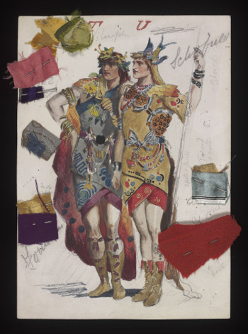 Costume designs for Utopia, Limited, by Percy Anderson (1851-1928).