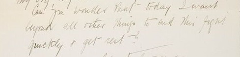 Excerpt of a letter to C.P. Scott from Emmeline Pankhurst, 27th December 1910
