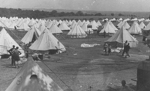 Camp at North Stoneham.