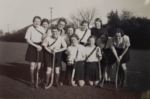 Student hockey team at City of Portsmouth Training College