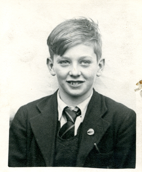 Barry Hines aged 12 years