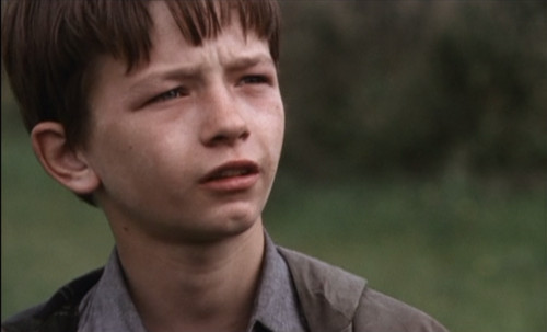 Still from Kes with David Bradley as Billy Casper