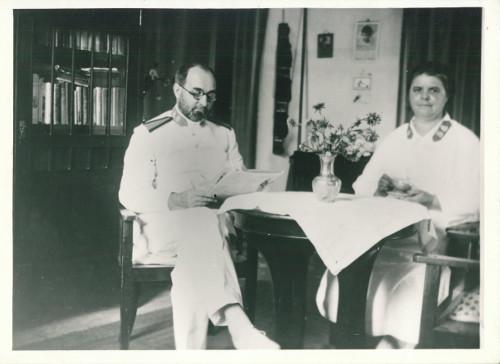Brigadier Leonard and Margaret Woodward, Java, 1930s