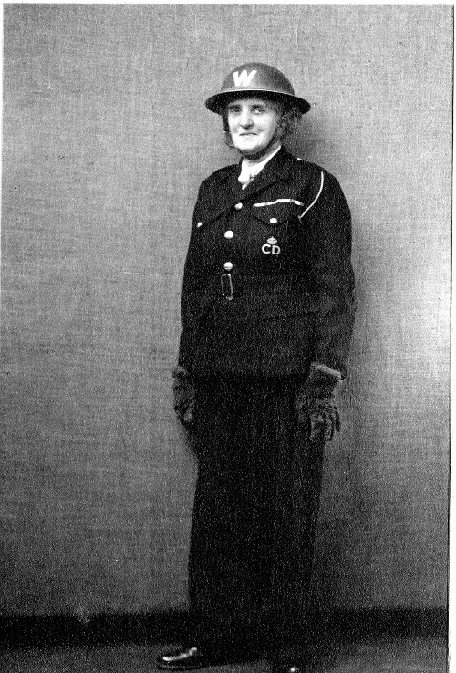 Du Sautoy in her ARP warden's uniform 1944. ,Copyright the Royal College of Nursing, 2018.
