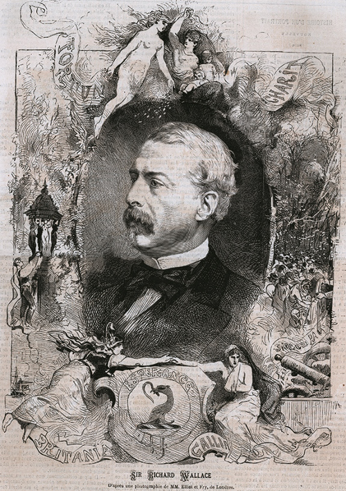 Picture of Richard Wallace published in L'Illustration in 1872 © The Wallace Collection