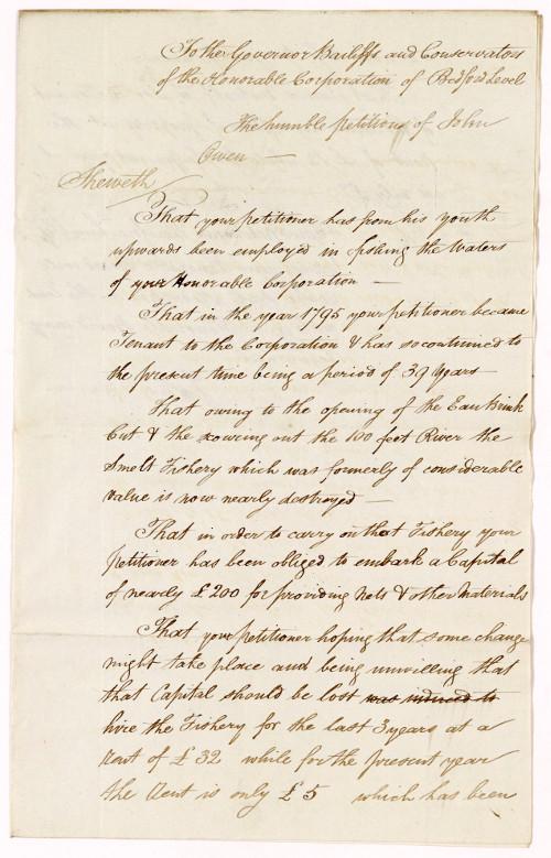Petition of John Owen, 1834
