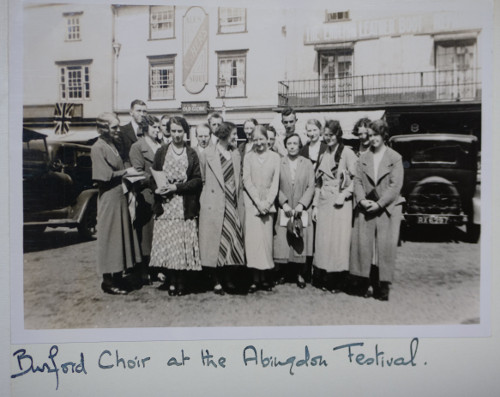 Holst with her Burford choir at the Abingdon Festival, 1933 (ref no. HOL/2/7/6/109)