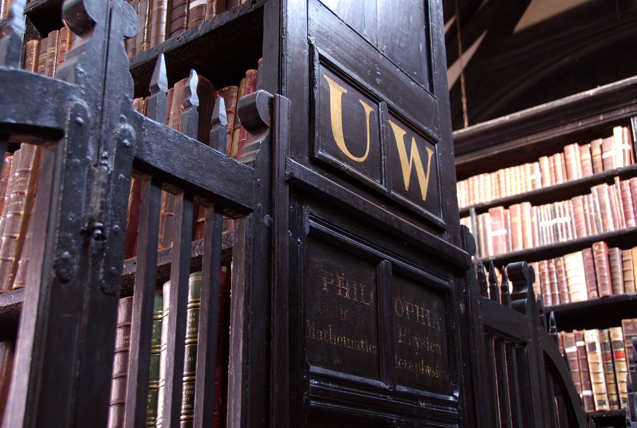 A detail from the interior of Chetham's Library