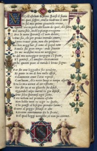 Petrarca, Le cose volgari (1501). Arms of Barbarigo family. Image copyright: the John Rylands Library