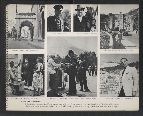Scenes of Gibraltar life in the 1950's.