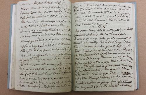 Photo of Diary of Elizabeth Fry, volume 10 (MS Vol. S 264)