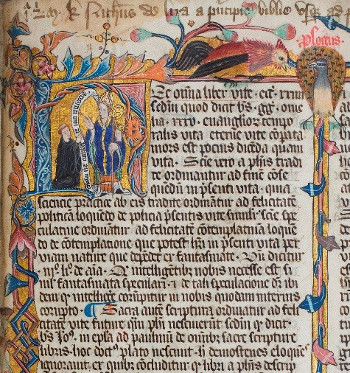 Durham Cathedral MSS A.I.3 – St Cuthbert. Size: 373 × 350. Image ©Chapter of Durham Cathedral.