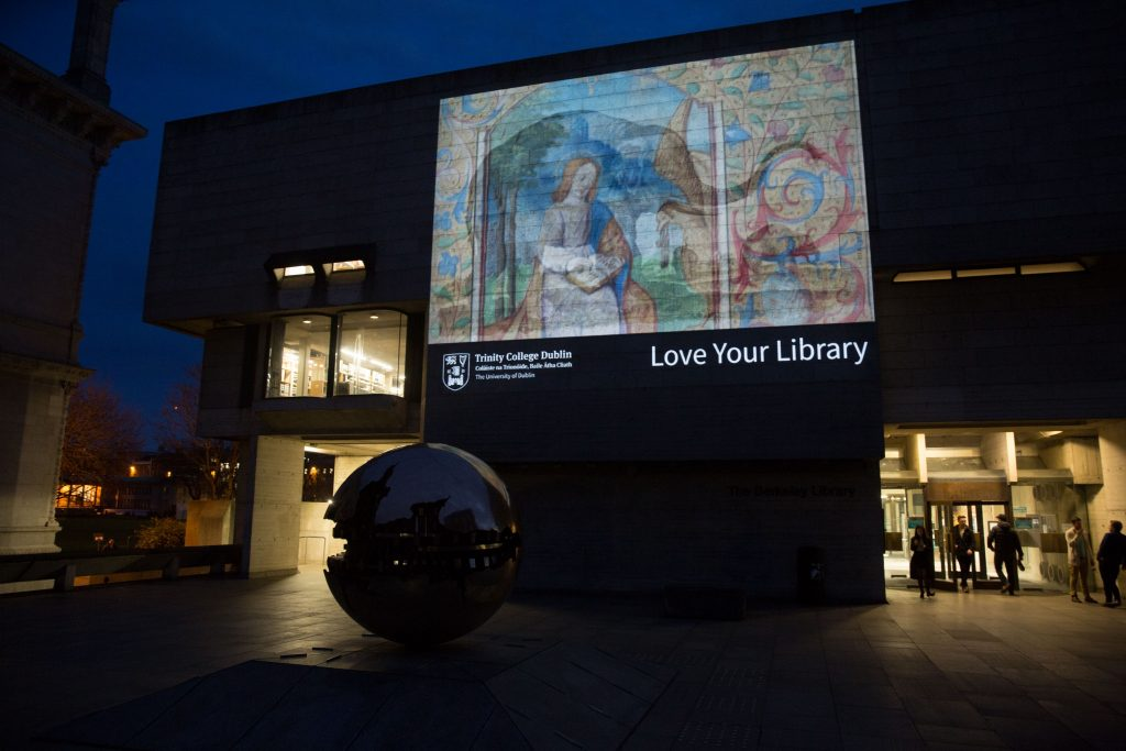 Photograph of the Berkeley Library, Trinity College Dublin, Trinity Week 2015