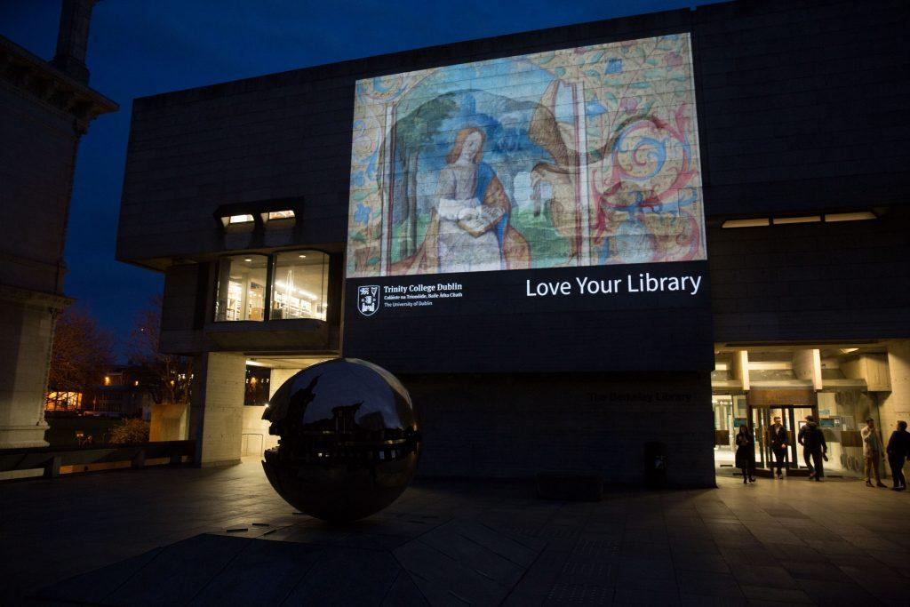 Photograph of the Berkeley Library, Trinity College Dublin, Trinity Week 2015