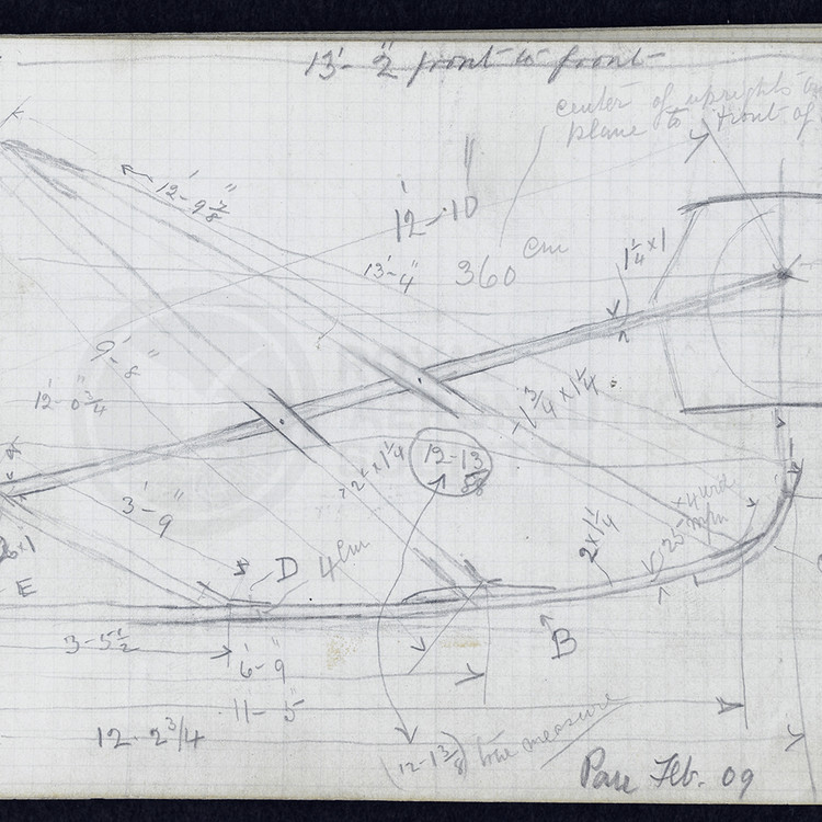 Page from the notebook of Horace Short (1909)