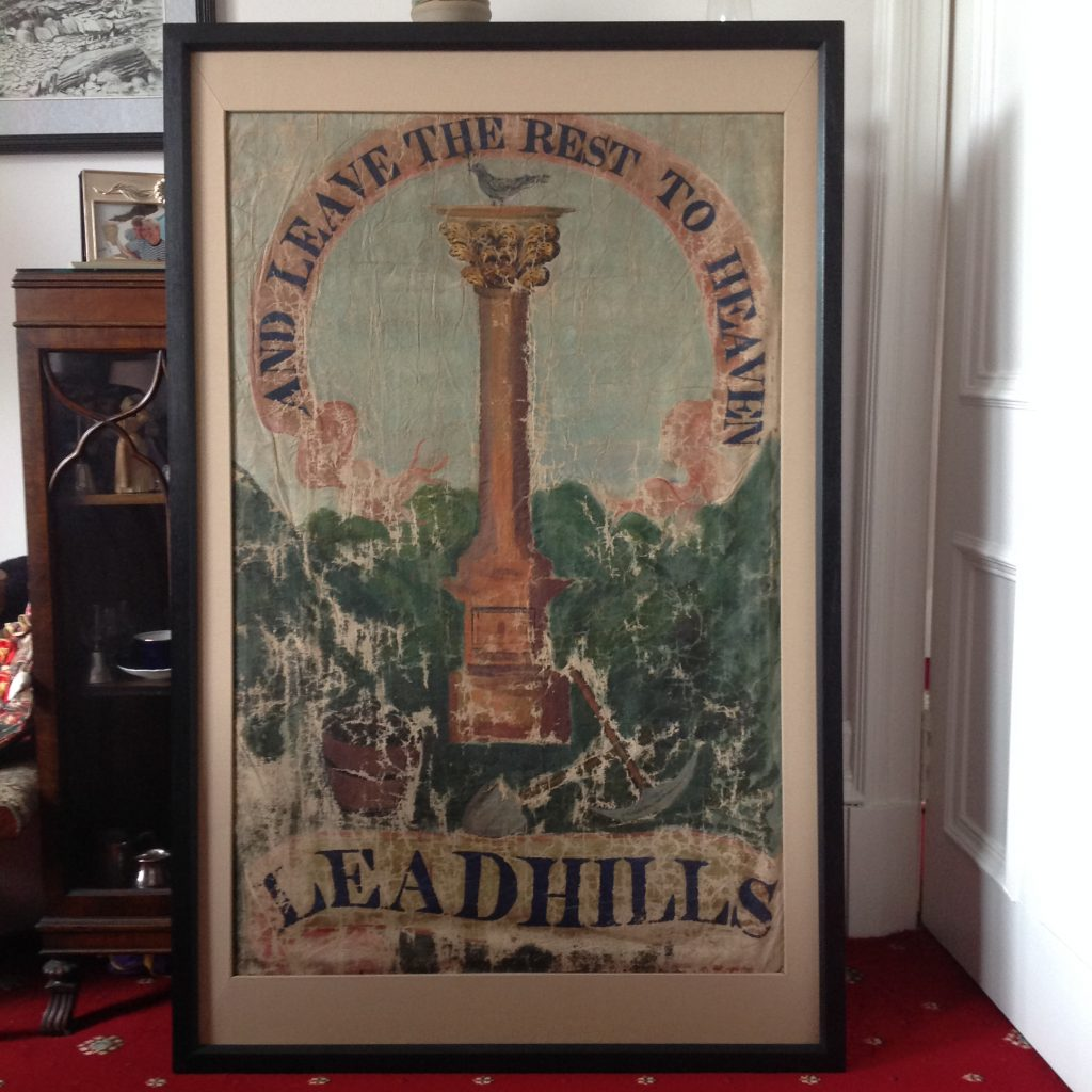 The Leadhills library banner (c 1820)