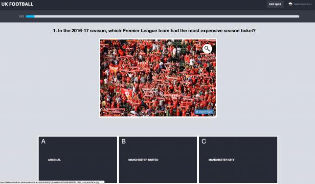 Football data quiz