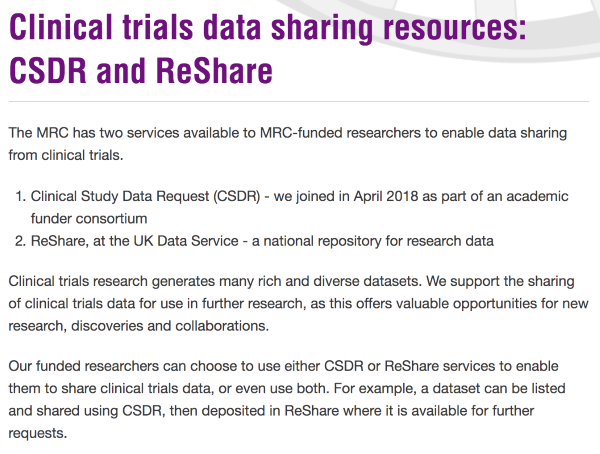 "Get to it!"" Clinical data sharing: Myth-busting and strategy – Data"
