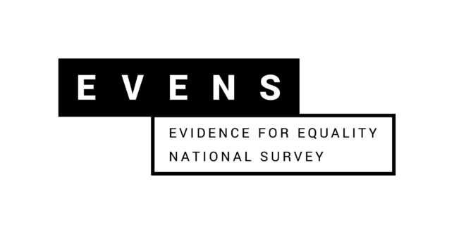 Logo of EVENS - Evidence for Equality National Survey