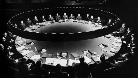 "The war room from the movie ""Dr Strangelove"""